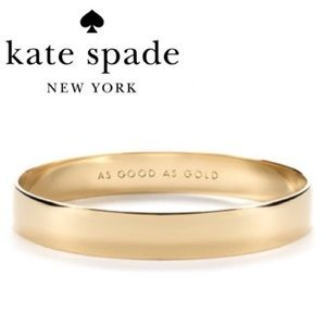 Kate Spade ♠️ Idiom Good As Gold Bangle Bracelet